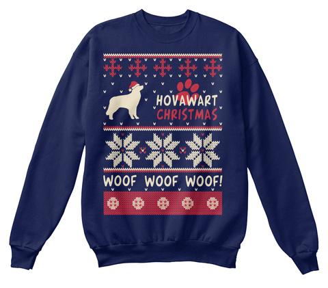 Hovawart Christmas T Shirt Navy  T-Shirt Front