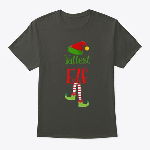 Tallest Elf Christmas Cosutme Pajama Smoke Gray T-Shirt Front