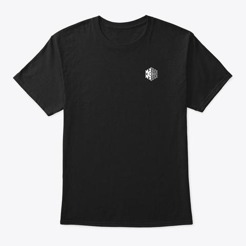 Ski Tricks Word Art (Reverse) Black T-Shirt Front