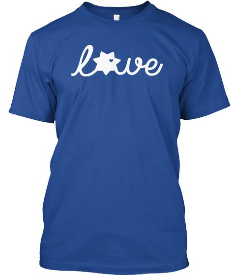 Las Vegas Metro Police Wives Deep Royal T-Shirt Front