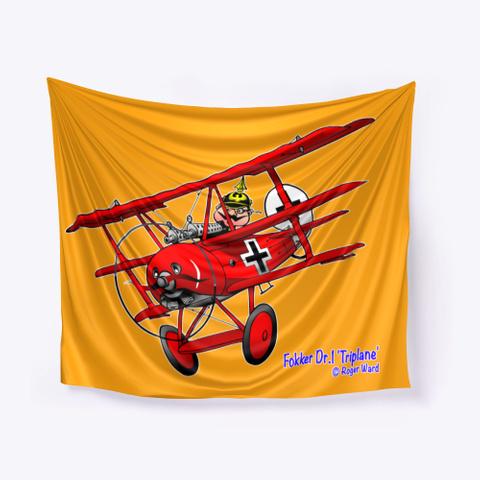 Fokker Dr.1 Cartoon Orange T-Shirt Front