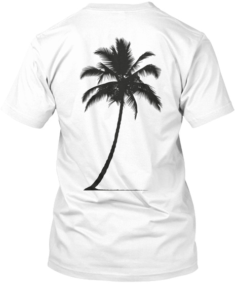 Palmera White T-Shirt Back