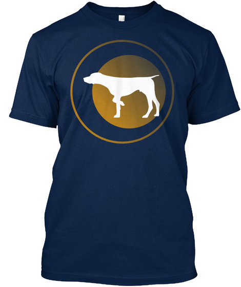 German Shorthaired Pointer Navy T-Shirt Front