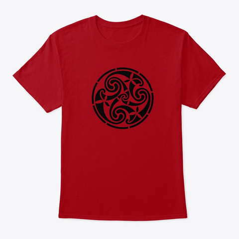 Celtic Knot Abstract Tribal Design Deep Red T-Shirt Front
