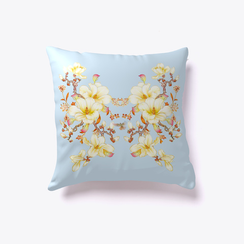 Throw Pillow Design Beauty Florasia  Pale Blue T-Shirt Front