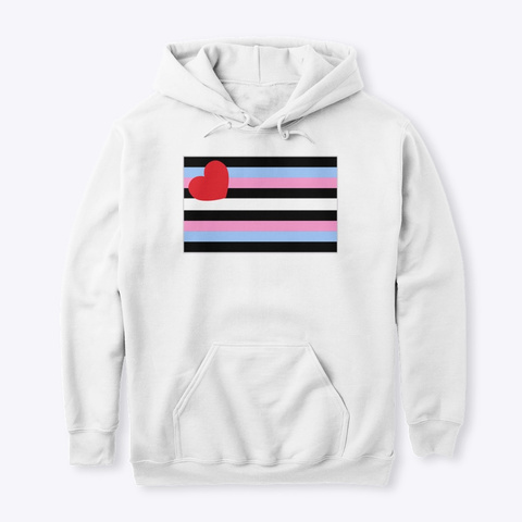 Trans Leather Pride Flag Hoodies White T-Shirt Front