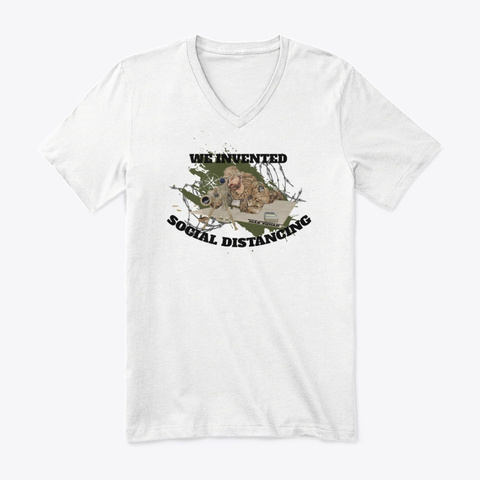 We Invented Social Distancing   Tees White T-Shirt Front