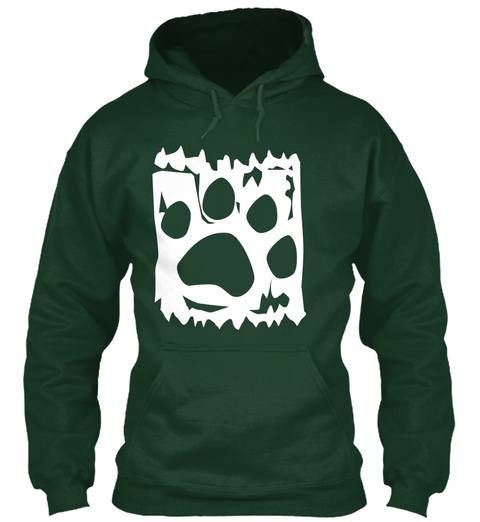 The Art Of Woof  White Forest Green T-Shirt Front