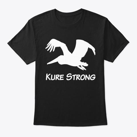 Hurricane Florence Pelican Kure Strong Black T-Shirt Front