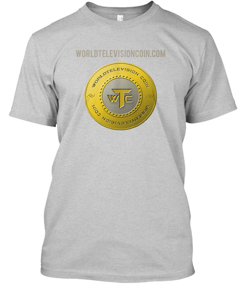 Worldtelevisioncoin.Com Light Steel T-Shirt Front