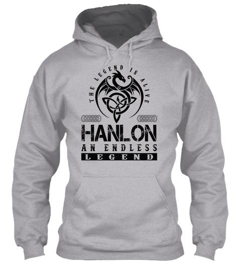 Hanlon   Legends Alive Sport Grey T-Shirt Front
