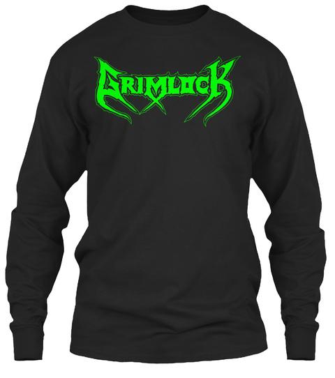 Grimlock   The Grim Trip Long Sleeve  Black T-Shirt Front
