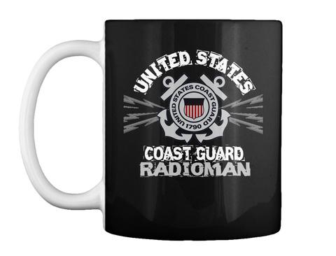 Cg Radioman Mug Black Mug Front