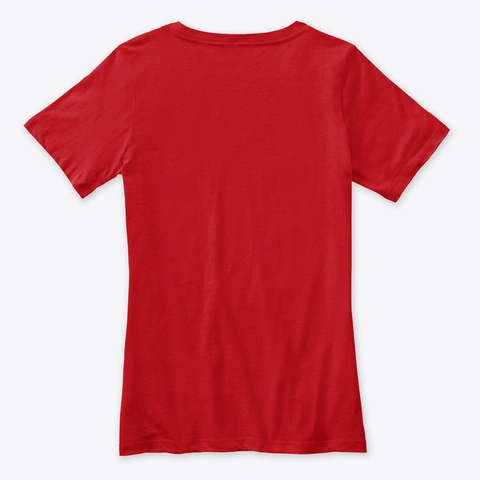 Uah Tah! By Wadowaza   For Ladies Red T-Shirt Back