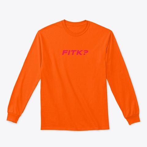 Moto Logo Long Sleeve Safety Orange T-Shirt Front