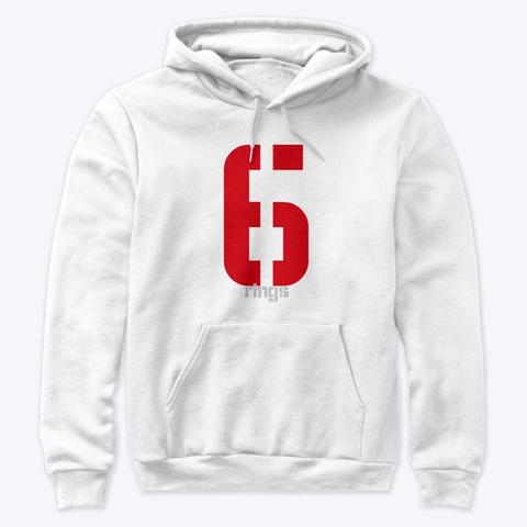 Patriot Football   Six Rings Champions White Sweatshirt Front