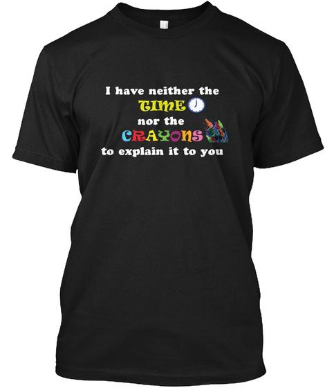 Crayons Cv Black T-Shirt Front