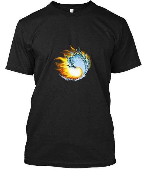 Ying Yang T Shirt Tai Chi Black T-Shirt Front