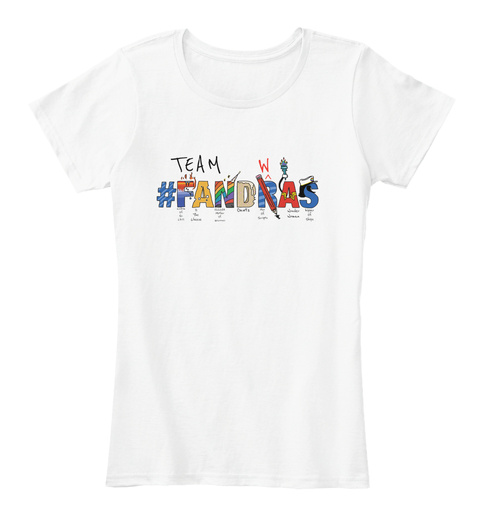 Team #Fandwras White Women's T-Shirt Front
