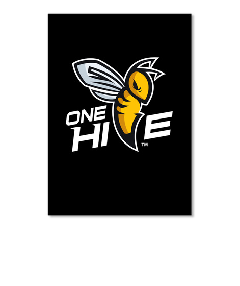 One Hive Black Sticker Front