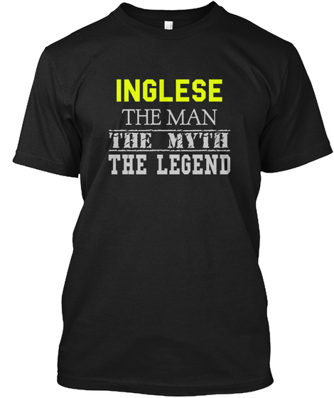 Inglese The Man The Myth The Legend Black T-Shirt Front