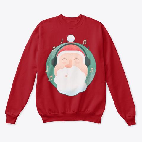 Christmas Santa Face Deep Red  T-Shirt Front