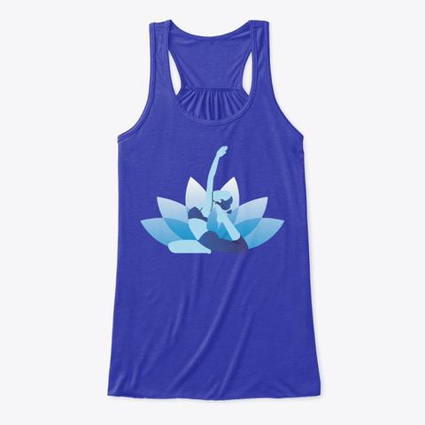 Yoga Pants, Clothes, Blue Match True Royal T-Shirt Front