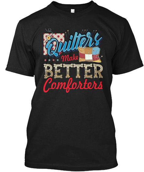 Quilting Black T-Shirt Front