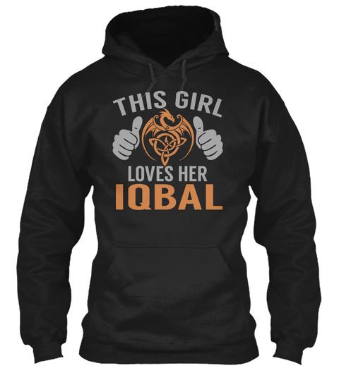 Loves Iqbal   Name Shirts Black T-Shirt Front