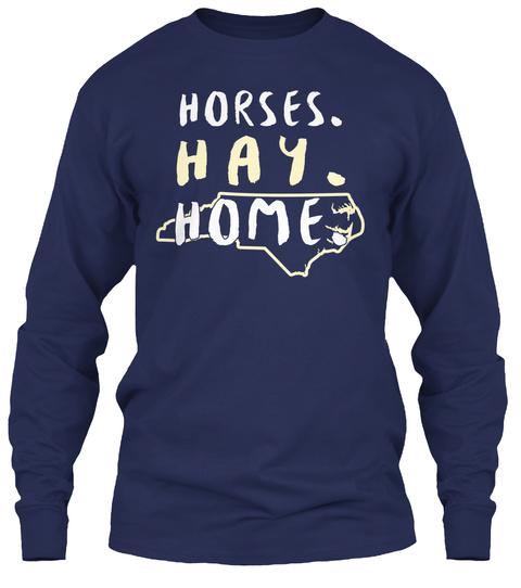127 - North Carolina Horseback Riding LongSleeve Tee