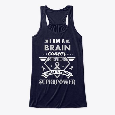Brain Cancer Awareness Wife Midnight T-Shirt Front