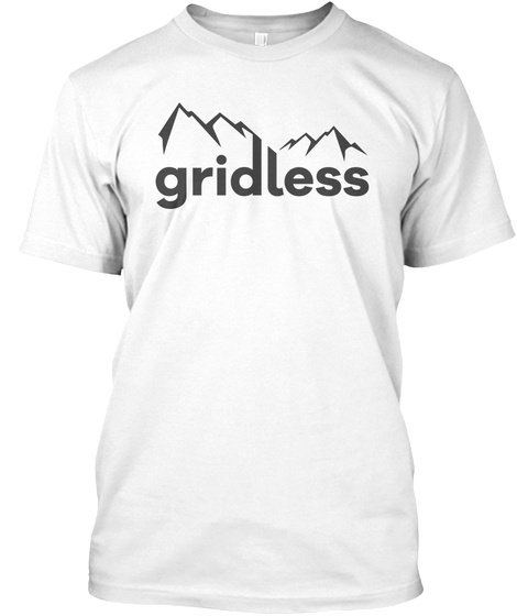 Gridless Life Classic Tee White T-Shirt Front