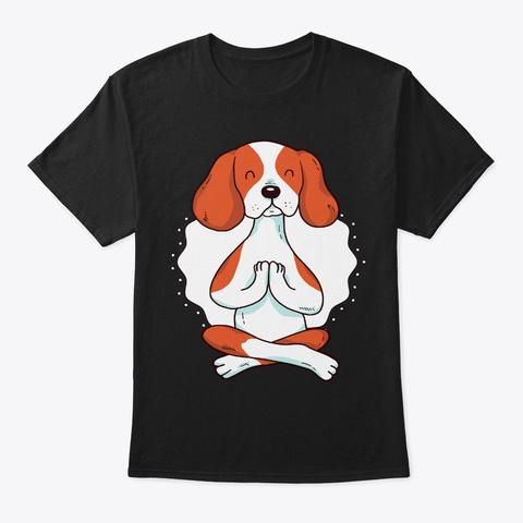 Cavalier Dog Yoga For Yogi And Dog Lover Black T-Shirt Front