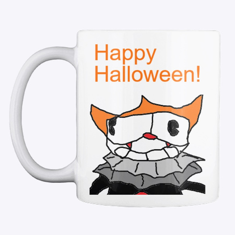 Cup & Mug Tv Halloween Mug White T-Shirt Front