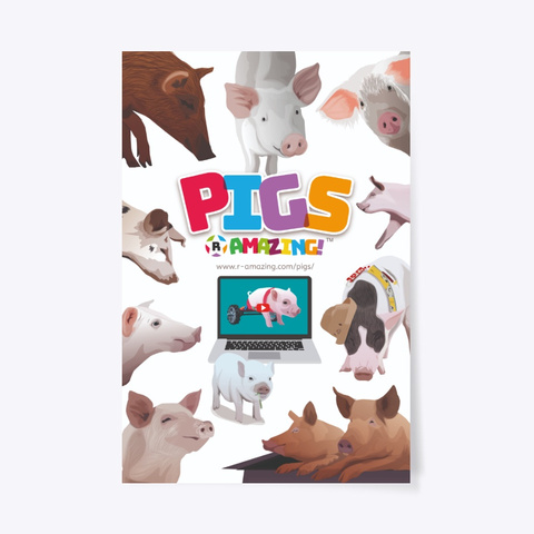 Pigs 'R' Amazing Poster Standard T-Shirt Front