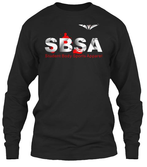 Student Body Sports Apparel Wing Tee Black T-Shirt Front