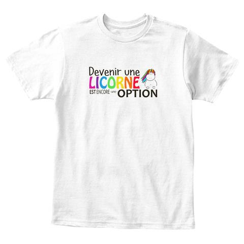 T Shirt Enfant   Devenir Une Licorne White T-Shirt Front