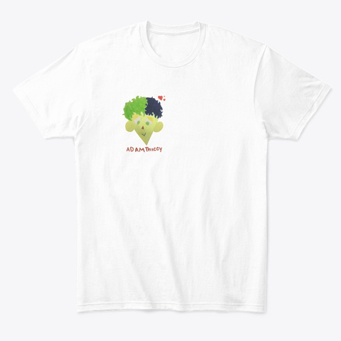 Adam Thiccy  Ar T Tin Gz White T-Shirt Front