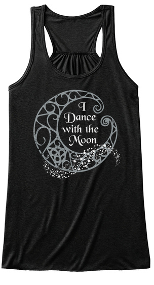I Dance With The Moon Black Women's Tank Top Front