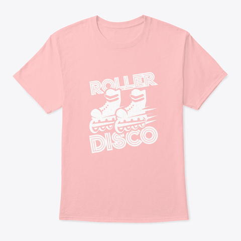 80s Roller Disco Pale Pink T-Shirt Front