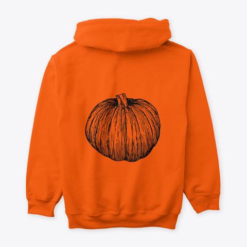 Happy Halloween! It's Spooky Season! Safety Orange T-Shirt Back