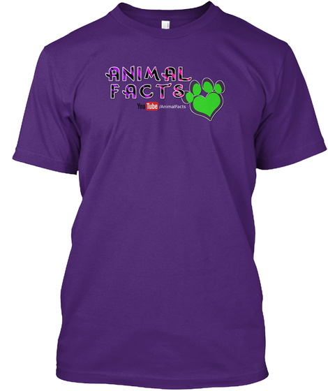 Animal Facts T Shirts Purple T-Shirt Front