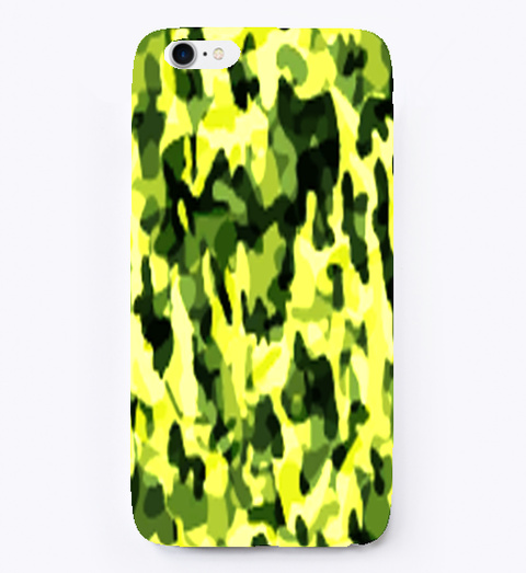Camouflage Camo  Pattern I Phone Case White T-Shirt Front