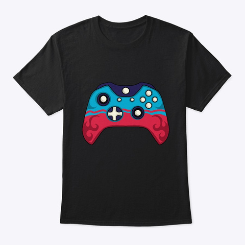 Video Game Controller Clayink Custom Art Black T-Shirt Front