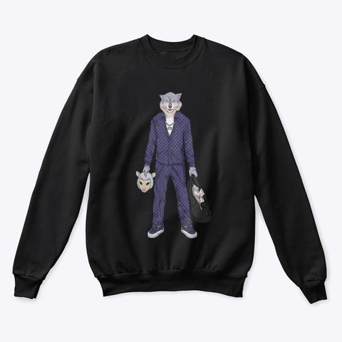 Wolf Ata Sweatshirt  Black T-Shirt Front