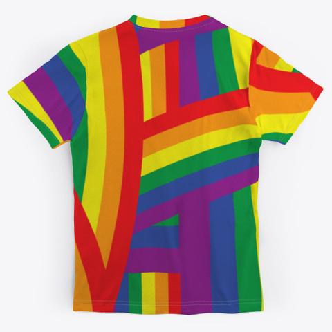 Rainbow Flag Lgbtq Gay Lesbian Pride Standard T-Shirt Back