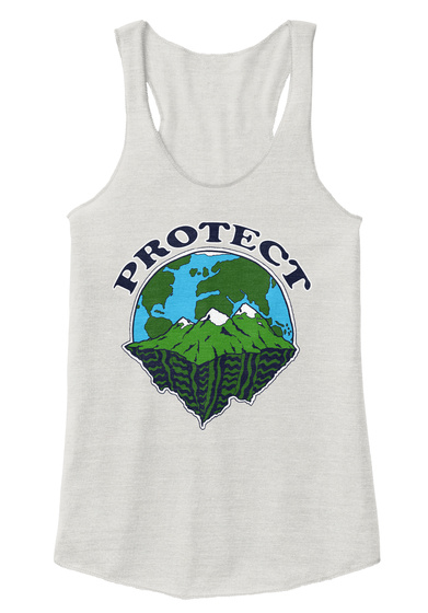 Protect Eco Ivory  T-Shirt Front