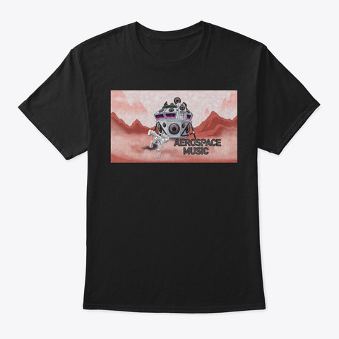 Aerospace Music T Shirt Black Camiseta Front