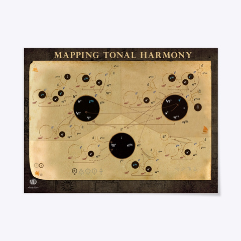 Mapping Tonal Harmony Poster Standard T-Shirt Front