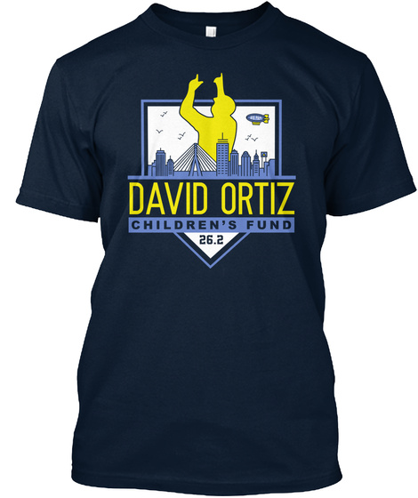 David Oritz Children's Fund 26.2 New Navy T-Shirt Front